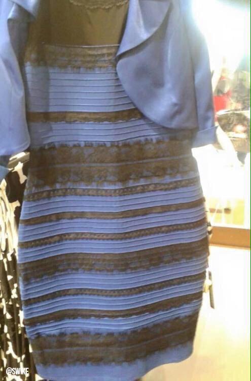 青と黒、白と金のドレス